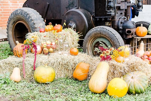 Herbsthochzeit Kürbis Dekoration