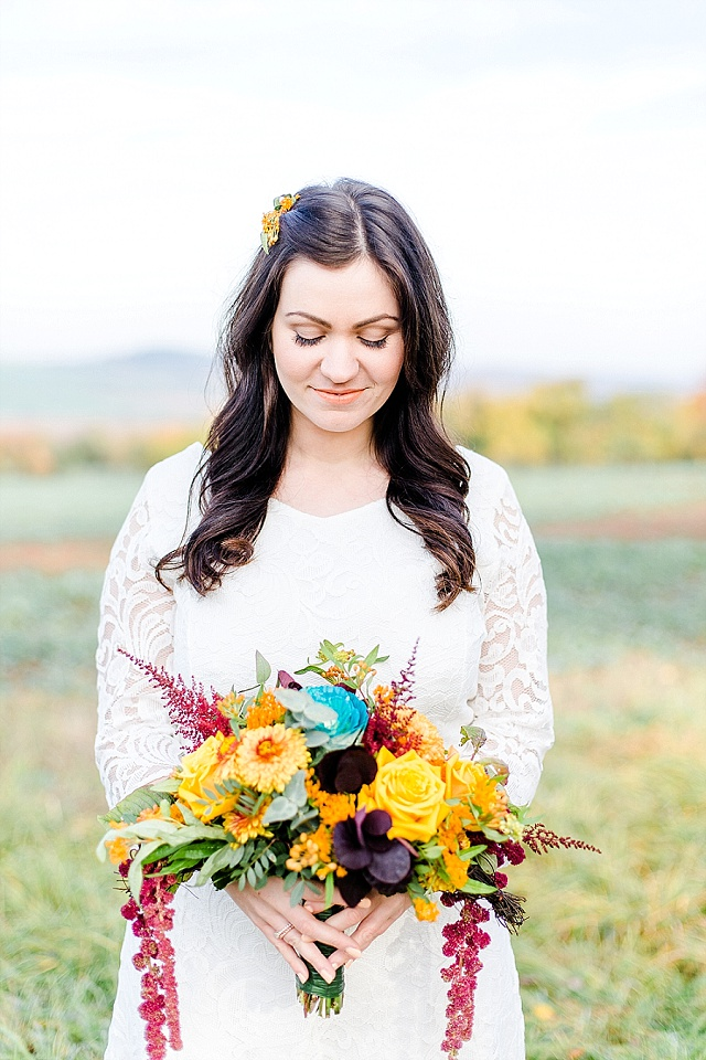 Brautstrauß Boho Herbst