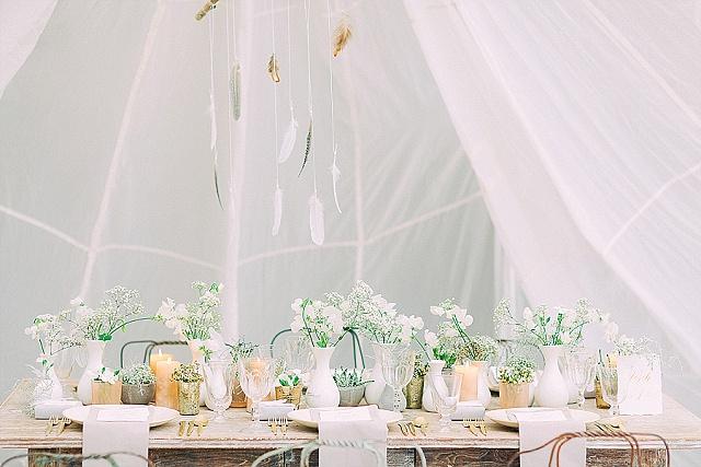 Tischdeko Hochzeit Shabby Chic