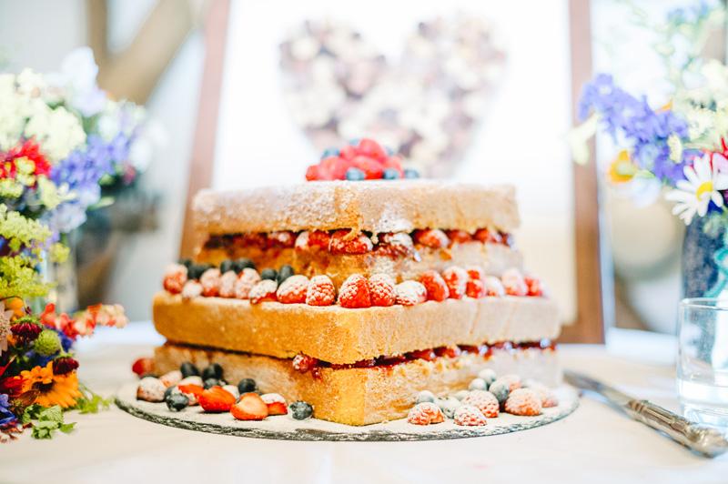 Naked Cake Hochzeit Geld sparen