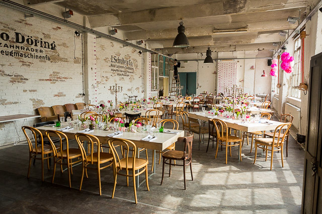 Hochzeit Berlin industrial chic Fabrik 23