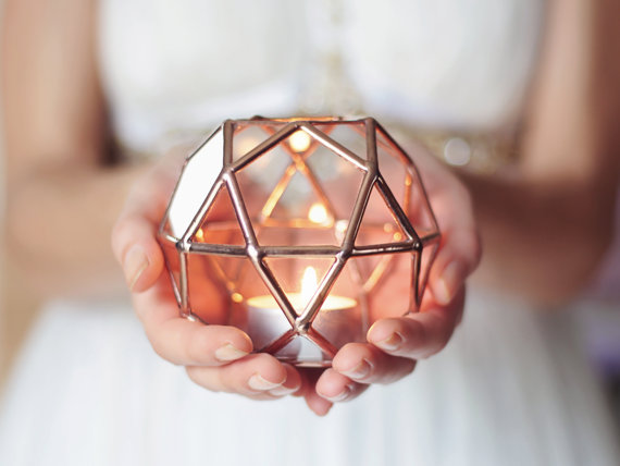 geometrischer Kerzenhalter Waen