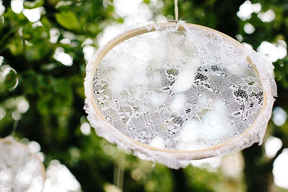 Gartenhochzeit Dekoration Stickrahmen