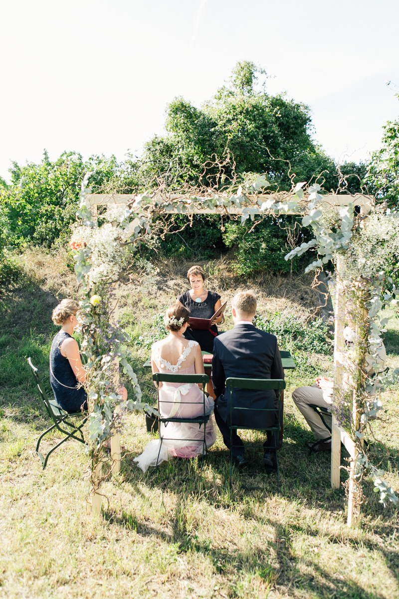 Trauung im Freien Hochzeitsbogen