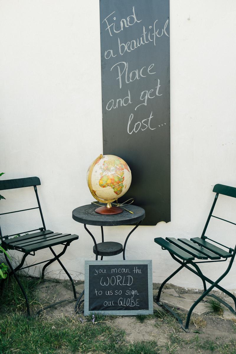 Gästebuch Hochzeit mal anders Globus