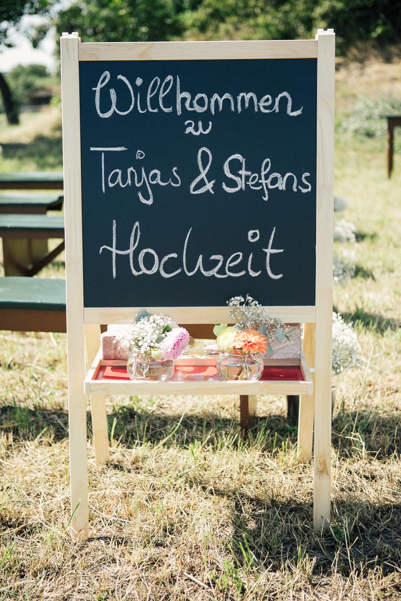 Hochzeit DIY Schild Schultafel