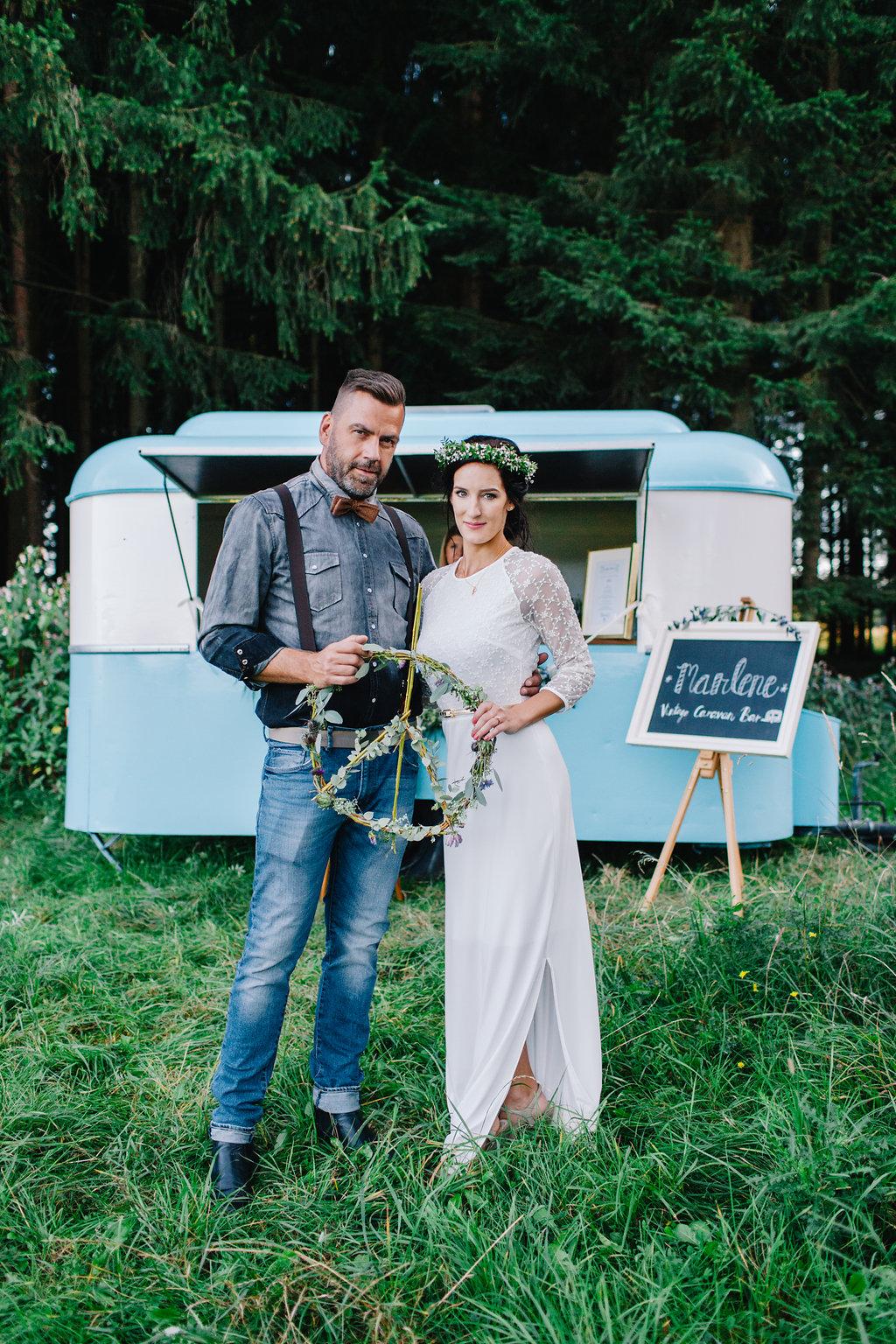 Marlene Vintage Caravan Bar Hochzeit München Food truck
