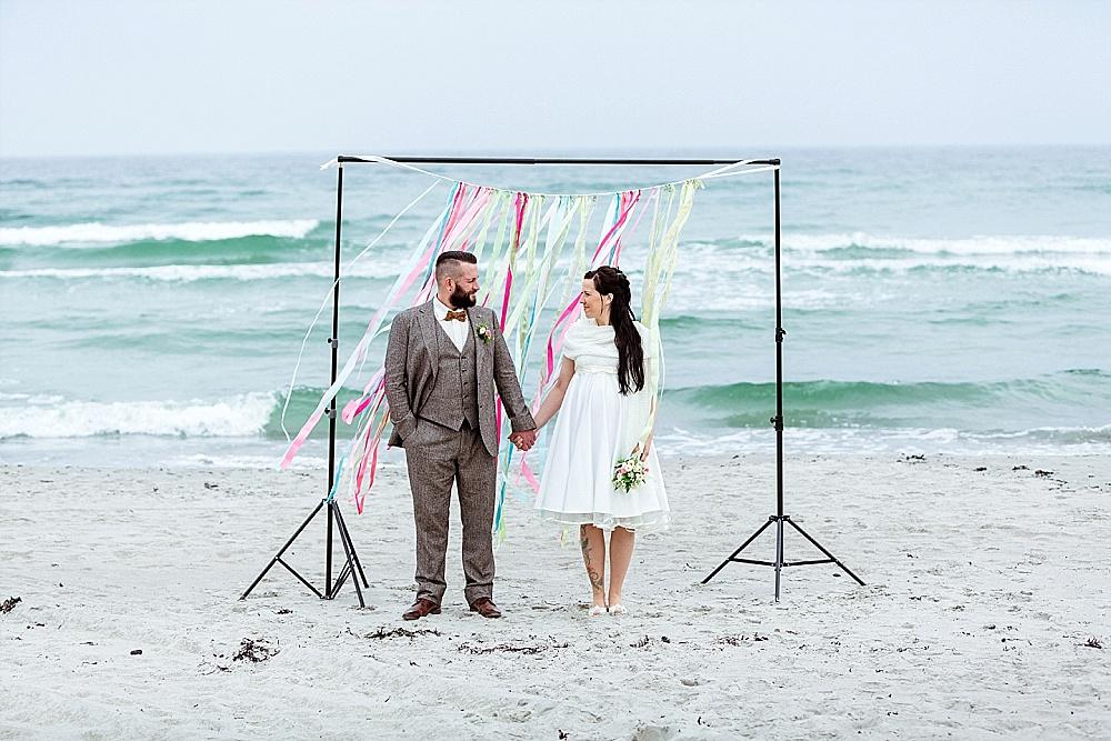 Romantische Strandhochzeit in Kap Arkona von Iris Woldt