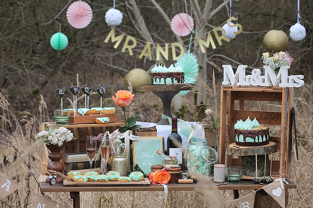 Sweet Table Mint und Gold