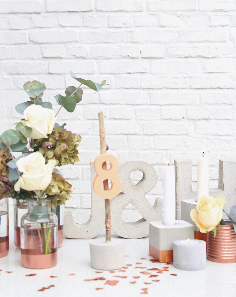 Hochzeitsdekoration modern leihen
