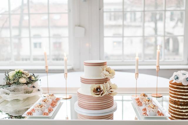 Tischdeko Hochzeit Serenity Kupfer
