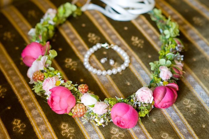Hochzeit Blumenhaarkranz