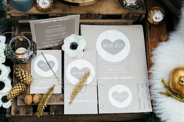Hochzeitspapeterie Carinokarten