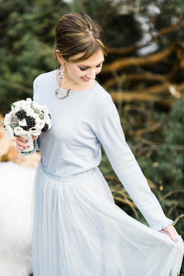 Winterhochzeit Outfit
