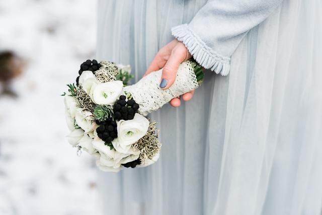 Brautstrauß Anemone Winter