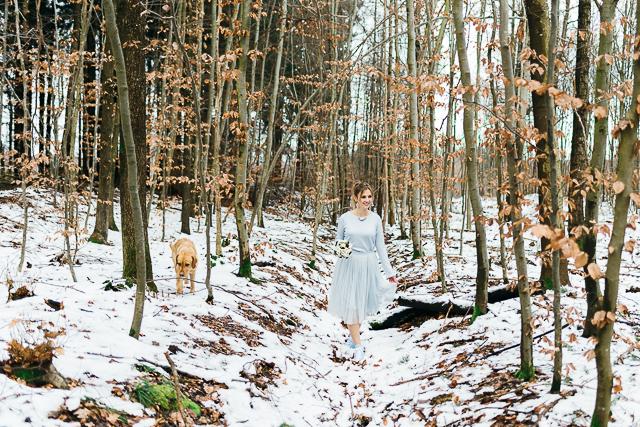 Winterhochzeit Wald