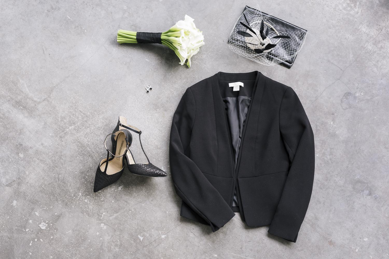 Brautkleid schwarzer Blazer
