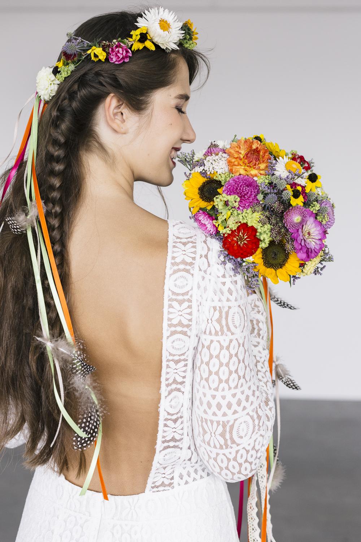 Brautkleid Hippie Boho Stil
