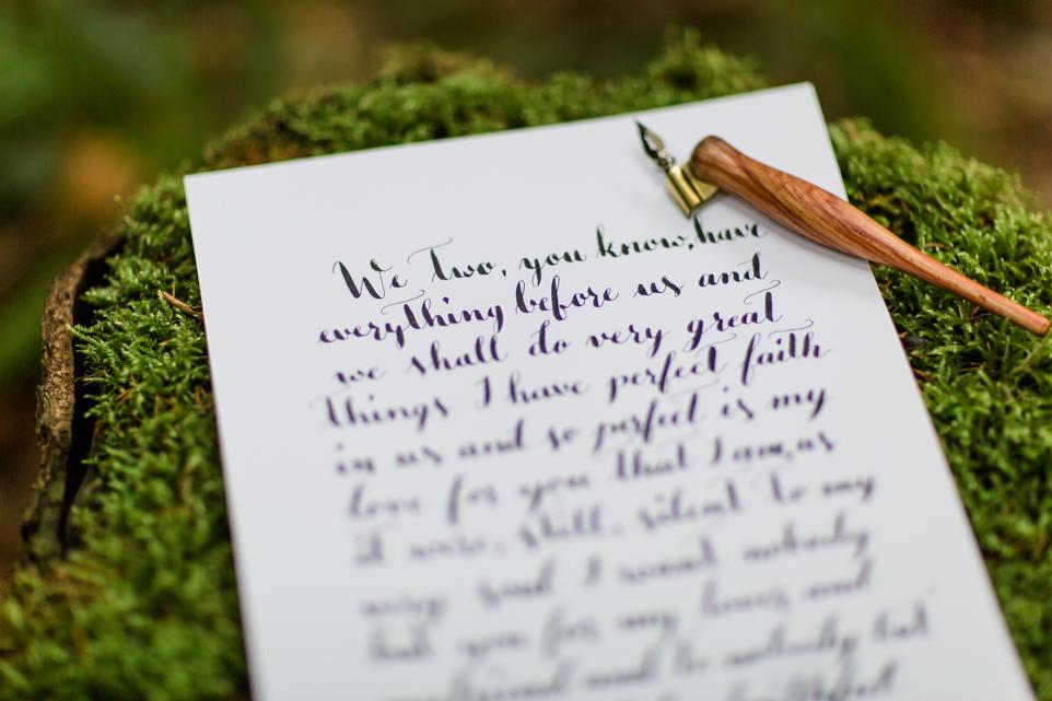 Hochzeit Papeterie Kalligraphie