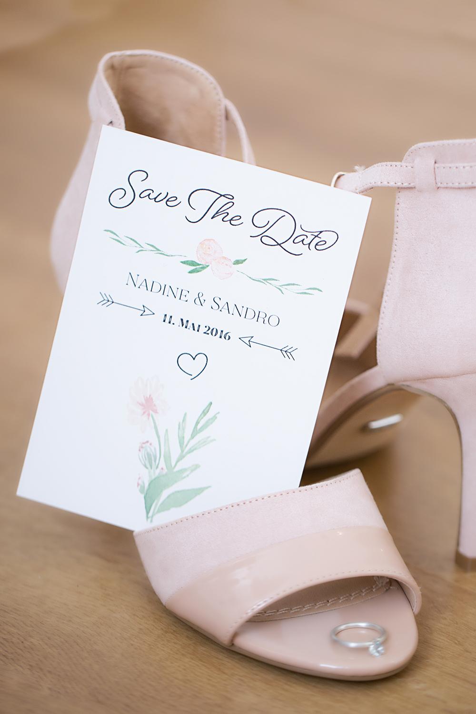 Hochzeit Einladungskarte rosa