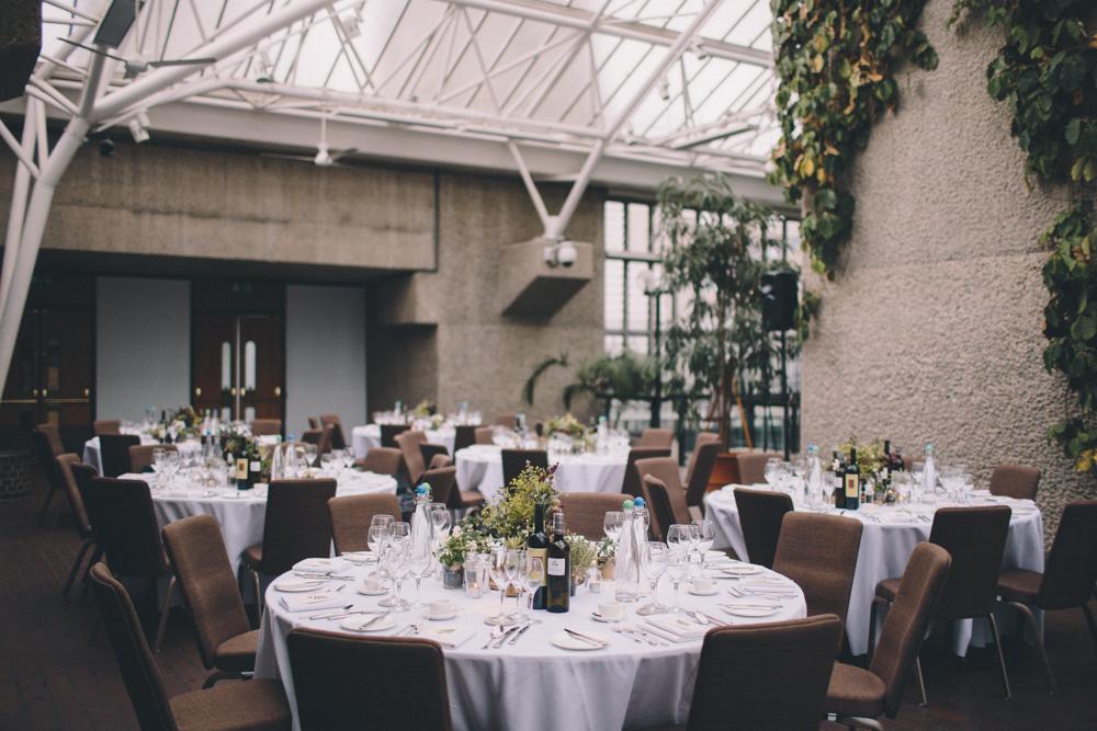 Tischdekoration Hochzeit Gewächshaus