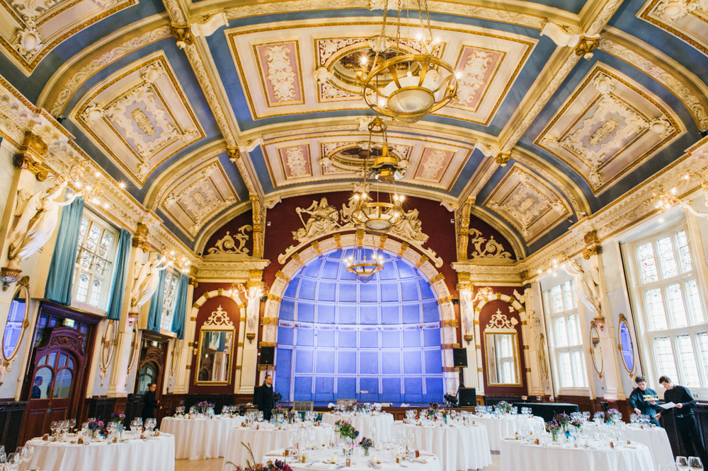 old finsbury town hall wedding photography london quirky alternative photographer-36
