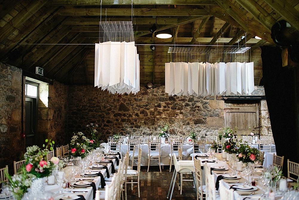 Hochzeitsdeko geometrisch modern