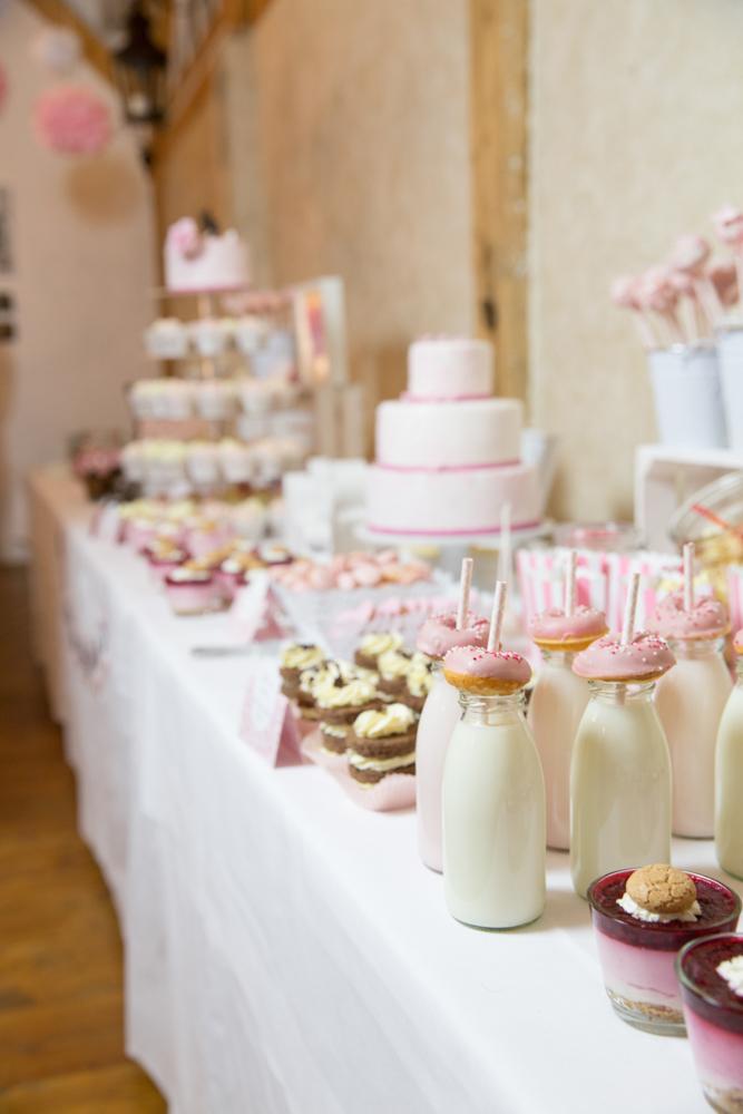 Donuts Hochzeit und Donut Bar rosa