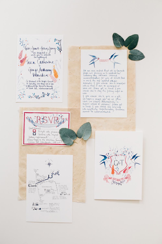 Hochzeitspapeterie Kalligraphie