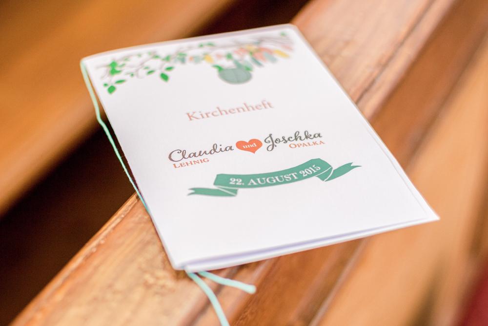 Kirchenheft Vintage Hochzeit