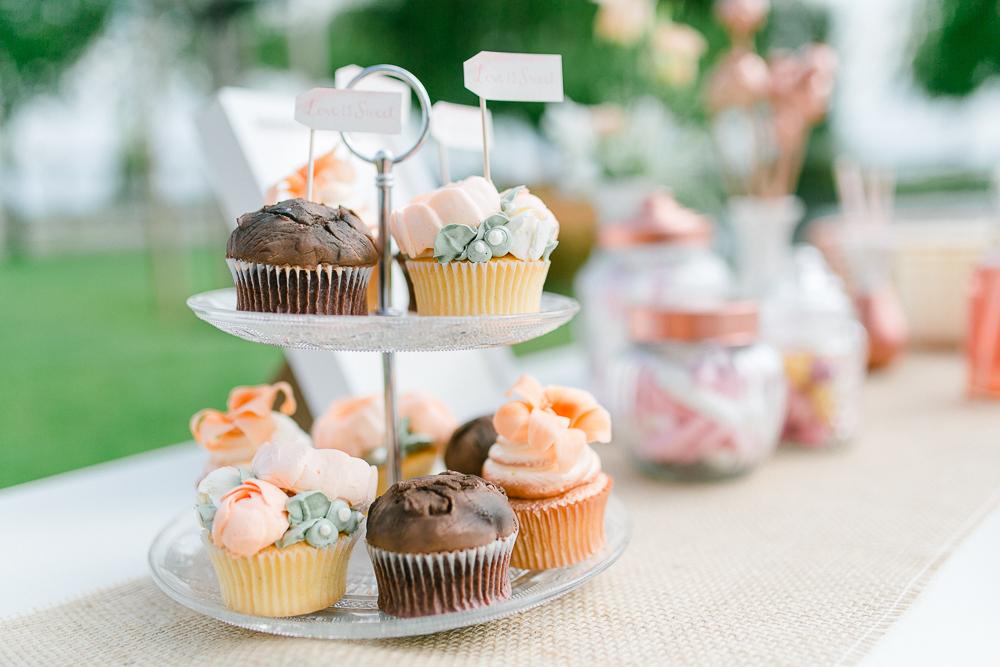 Tischdekoration Hochzeit kupfer