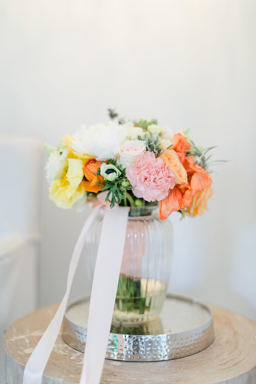 Brautstrauß apricot gelb