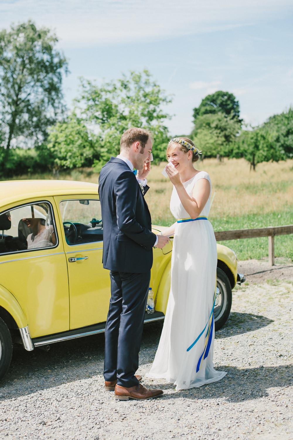 Hochzeitsauto VW Käfer gelb