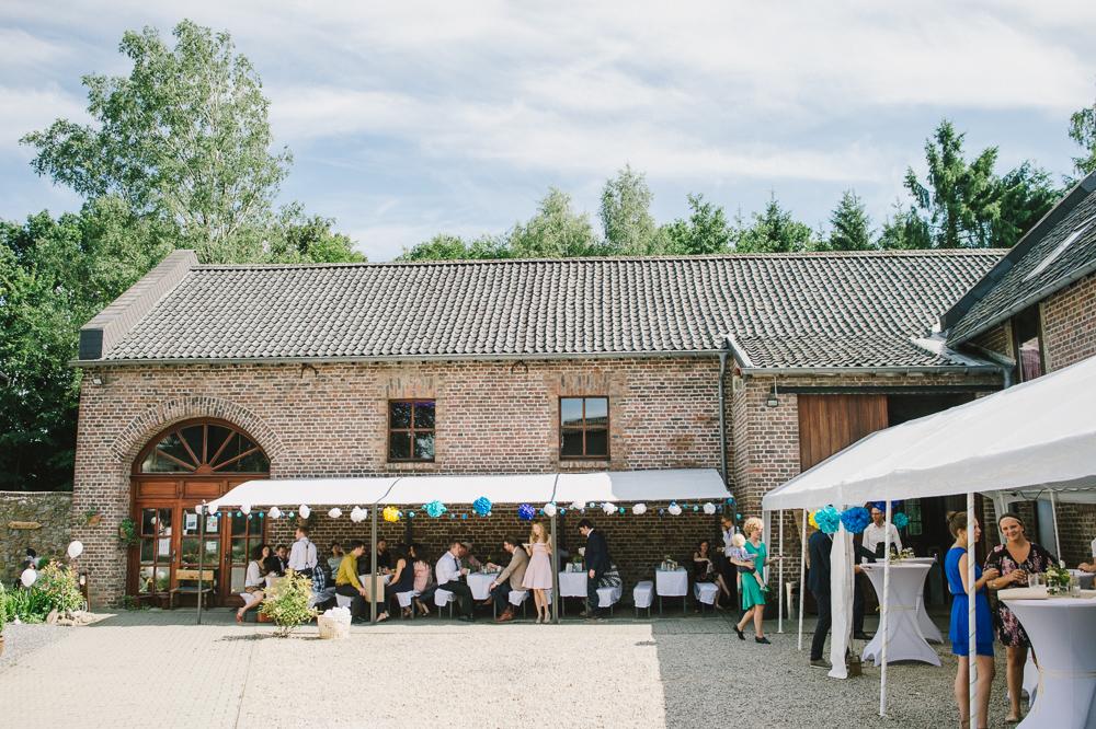 rustikale Hochzeit gelb blau