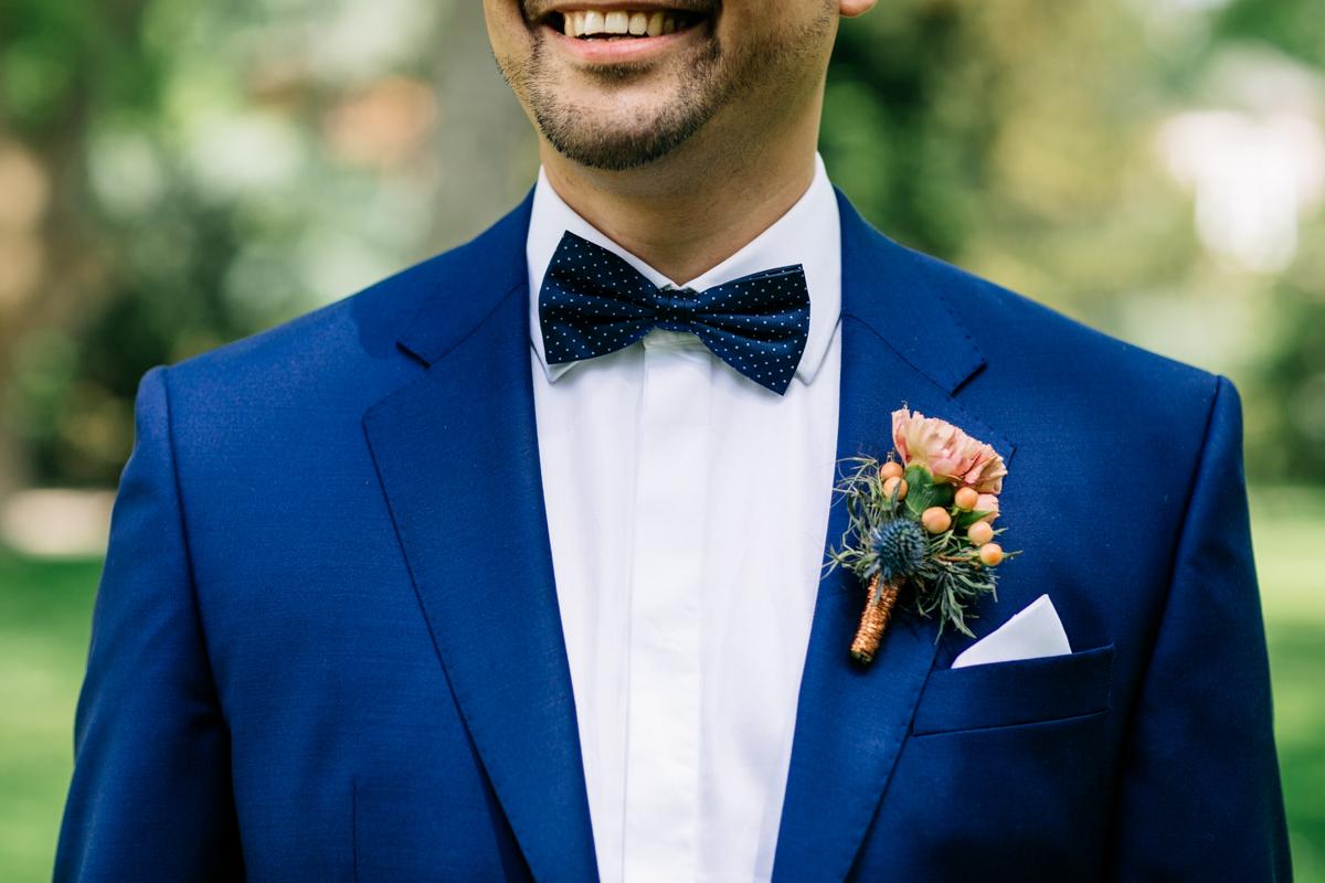 Bräutigam blauer Anzug