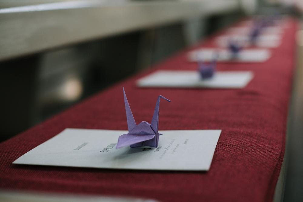 Origami Kranich Hochzeit