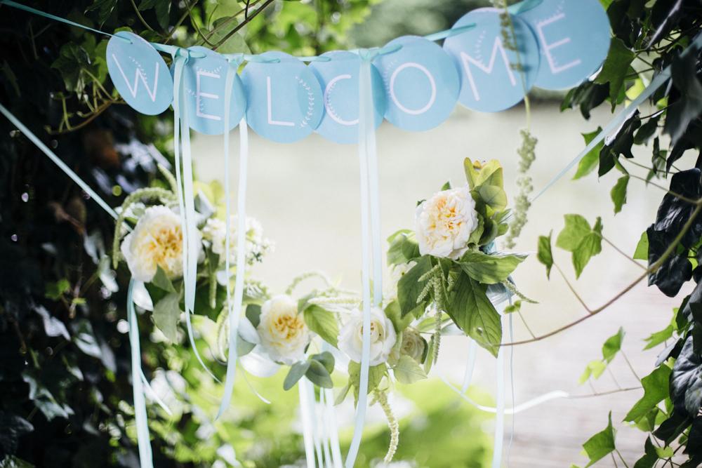 Welcome Girlande Hochzeit