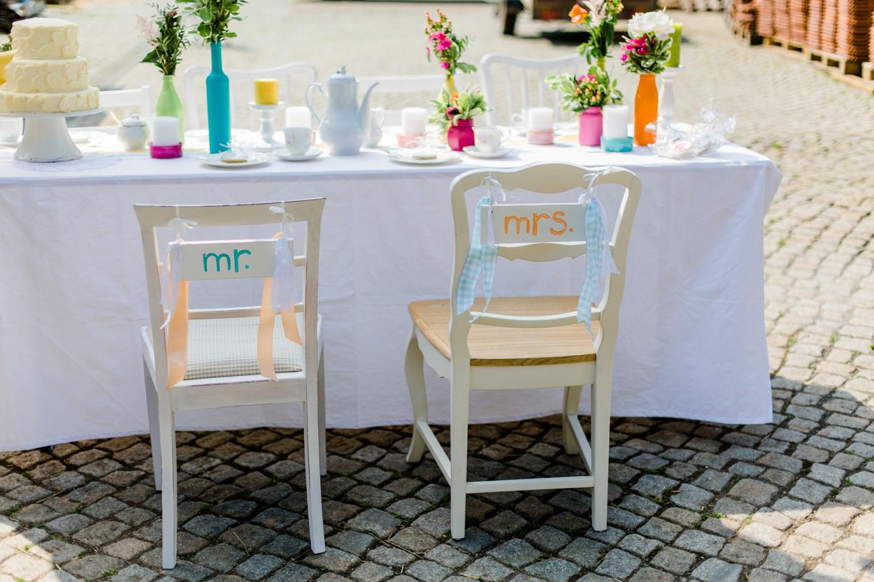Stuhlschild Hochzeit
