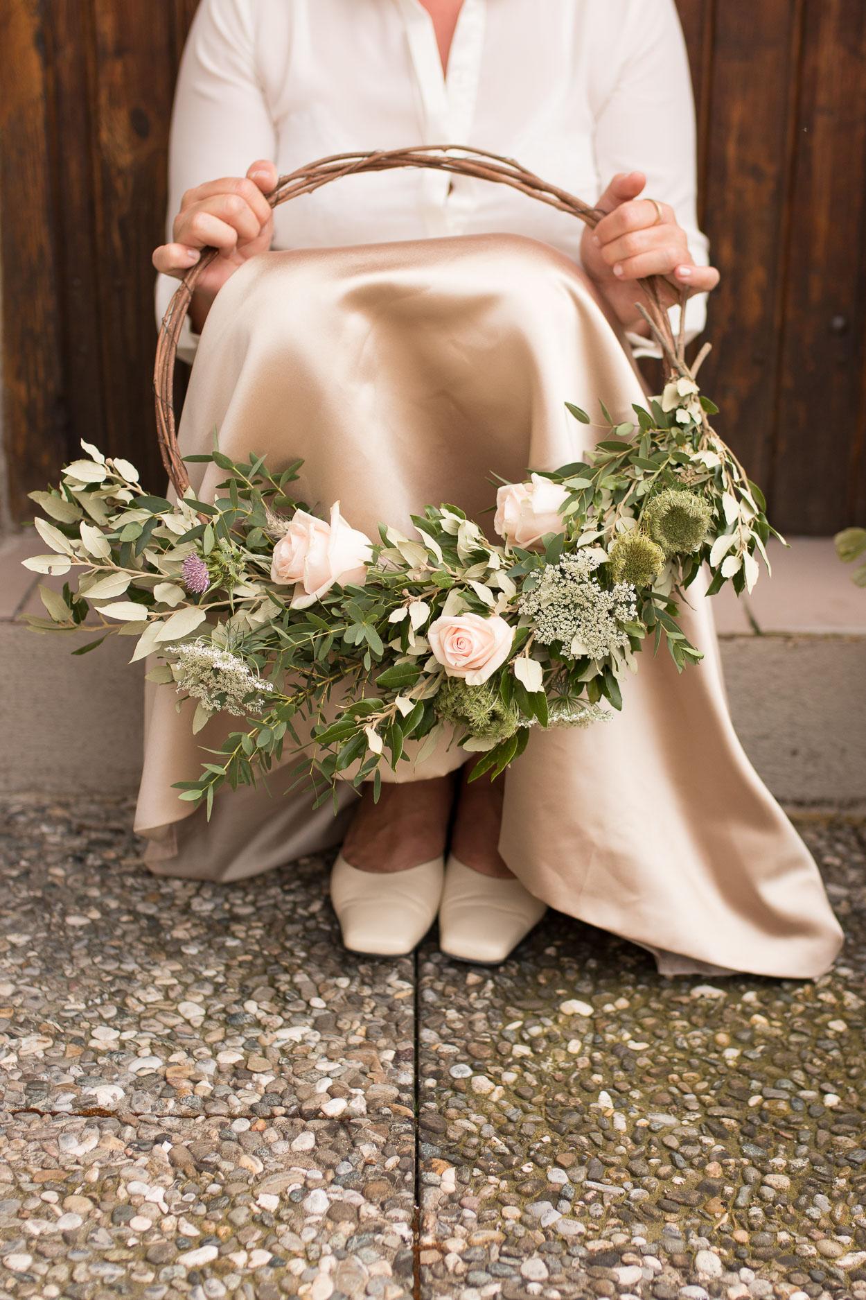 Hoop Bouquet Hochzeit