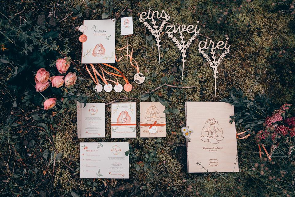 Hochzeitspapeterie Fuchs Boho