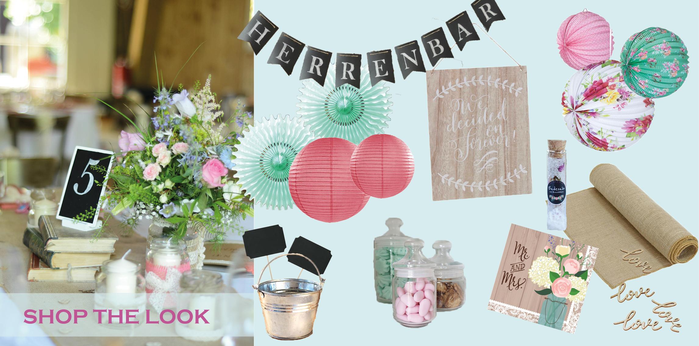 Shop the Look DIY Hochzeit K&M Scheunenhochzeit
