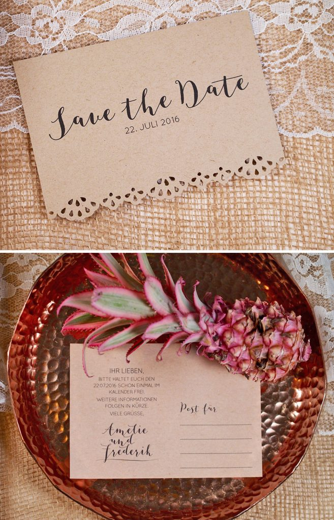 7 einfache DIY Save the Date Ideen