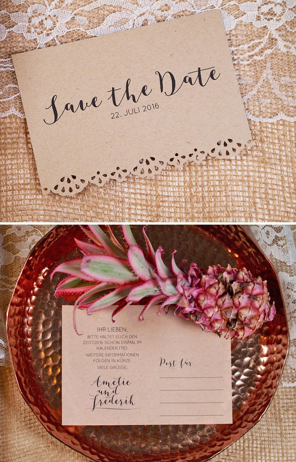 7 Einfache Diy Save The Date Ideen Hochzeitsblog The Little