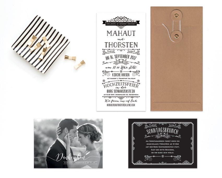 Vintage Hochzeitskarten Roaring Twenties