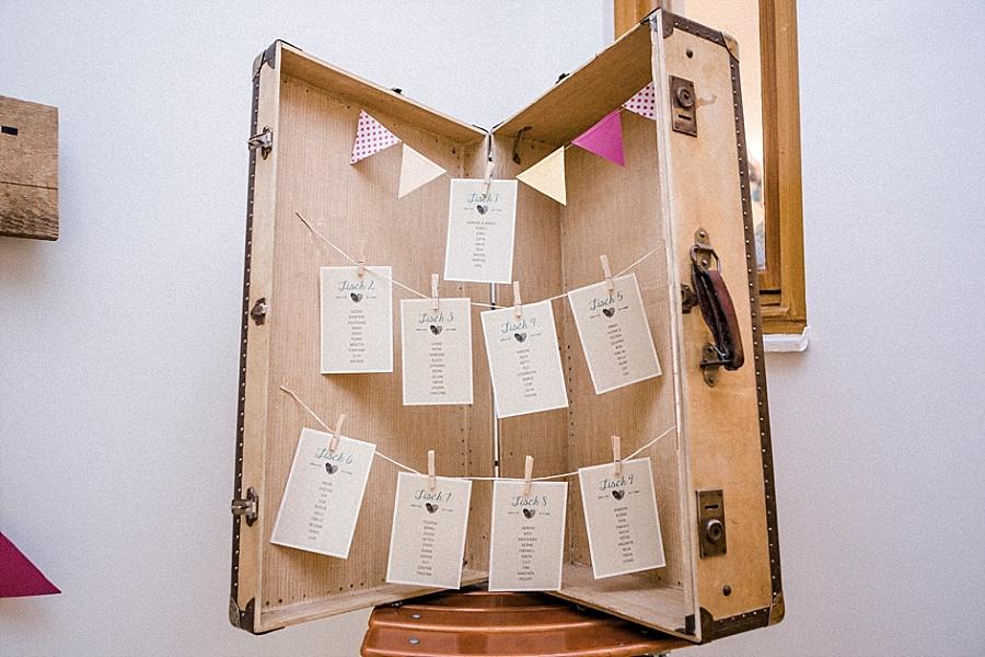 Sitzplan Hochzeit DIY