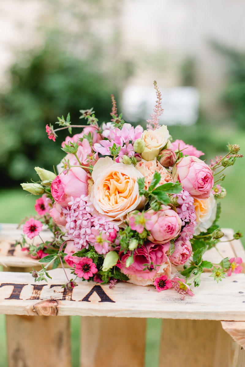 Brautstrauß rosa