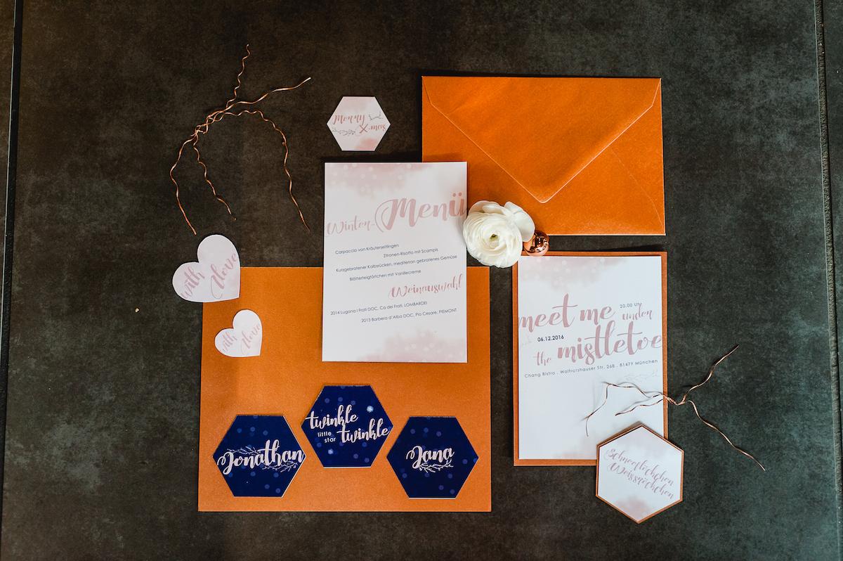 Weihnachtskarten Hochzeit