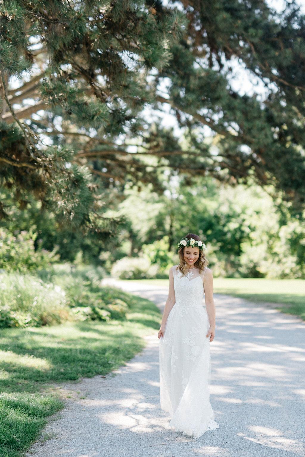 Brautkleid Gartenhochzeit