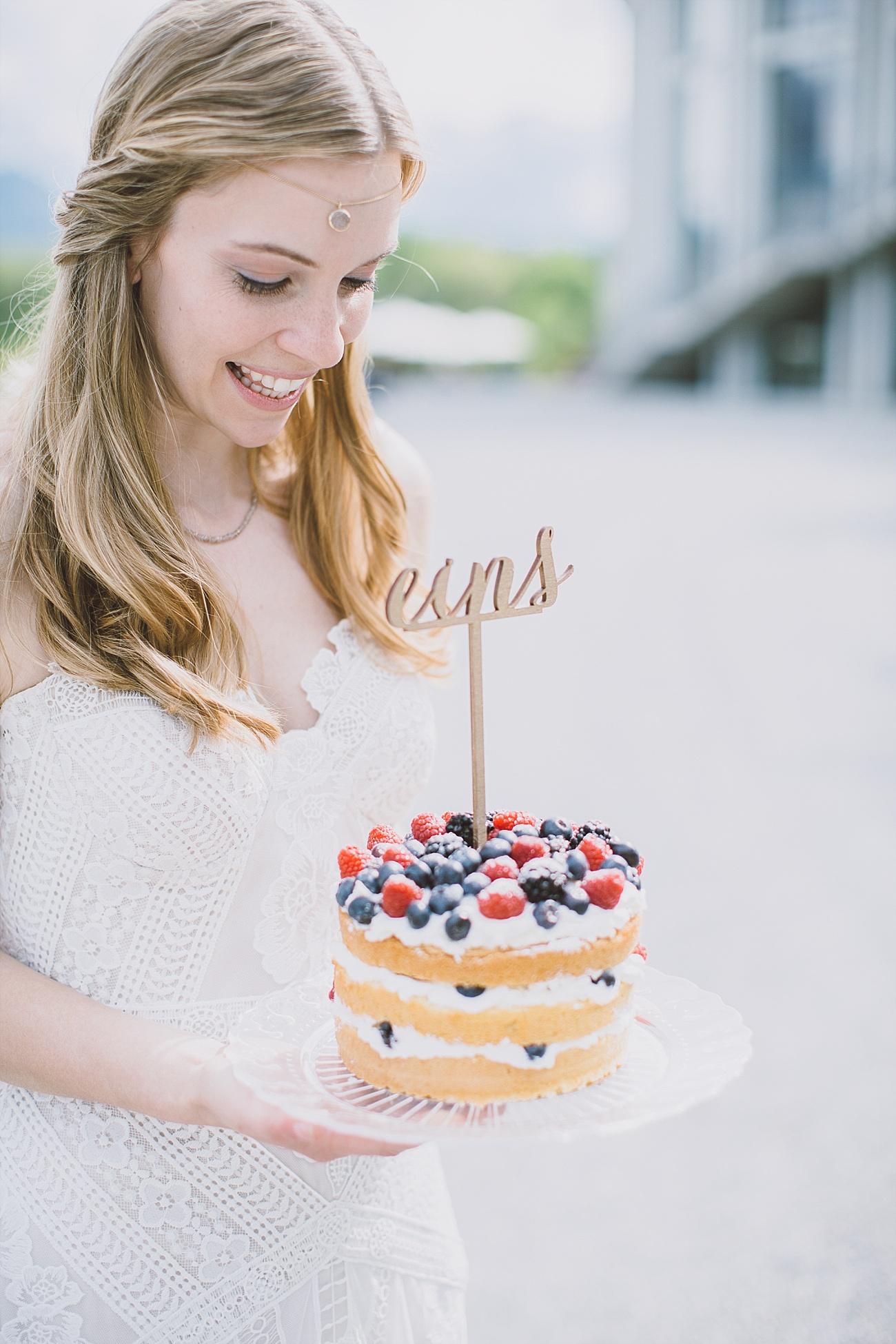 Hochzeitstorte Cake Topper Naked Cake