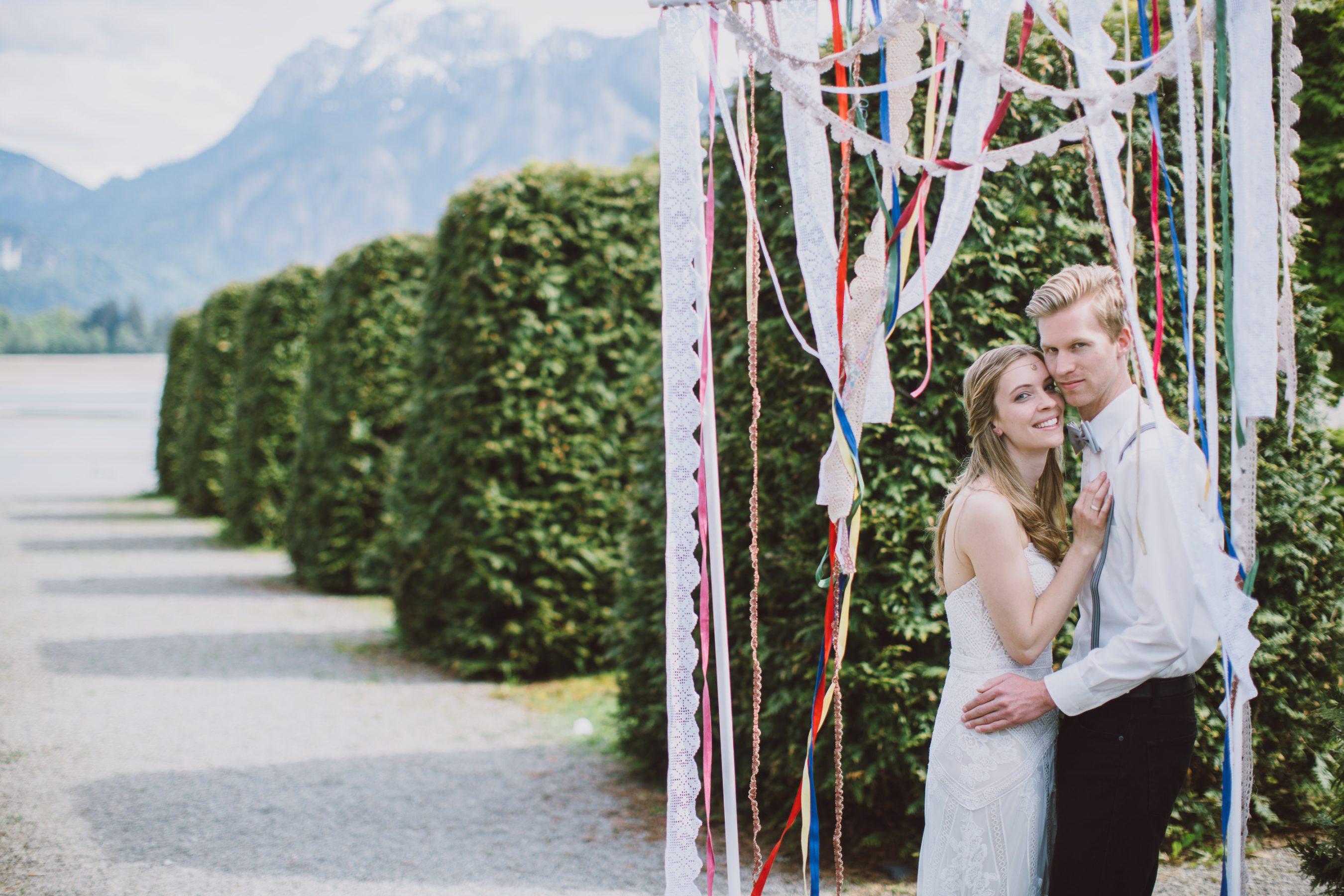 Boho Hochzeit Hintergrund Trauung